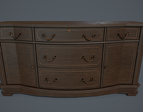 Old sideboard PBR 3D model