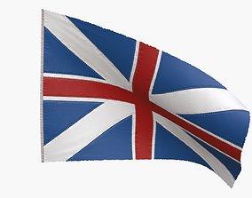 British Union Flag 1606-1801 3D asset