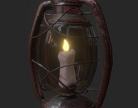 Oil Lantern Candel 3D model