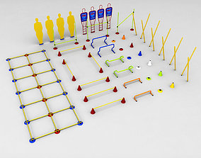 Soccer football training equipment seating 3D model