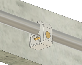 Pipe clamp holder pipe fixation 3D printable model