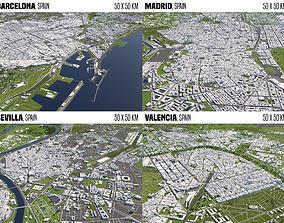 3D Spain 4 Cities