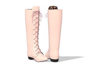 3D asset Lace Up Calf Boots