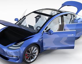 Tesla Model 3 with interior