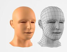 game-ready Realistic Human Head 3D Model
