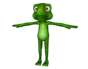 3D Frog cartoon 02