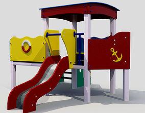 3D model Children slide