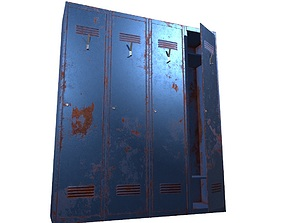 Locker PBR Game Ready 3D model