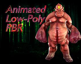 3D model animated Fat Monster