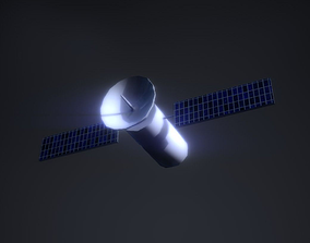 Low Poly Satellite PBR Game Ready 3D model