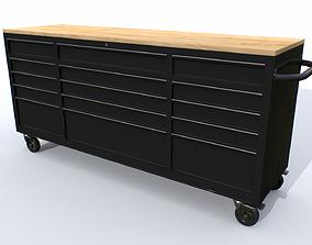 3D asset Workbech Storage Tools Trolley 2