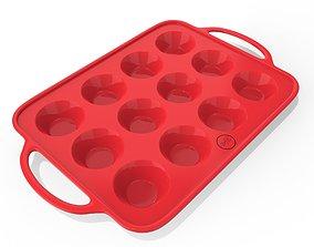 muffin Cupcake plate 3D asset