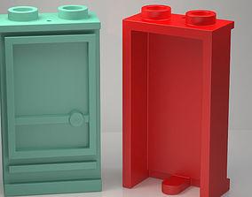 LEGO Door 1x2x3 Left with Open Stud with 3D print model 2