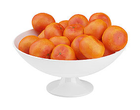 3D Bowl of Tangerines