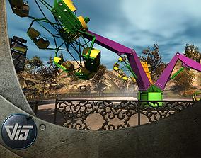 High Detail Fairground Ride 15 - Troika 3D model