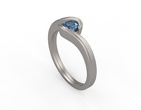 3D print model Woman Solitaire Ring 294