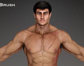 Muscular Male Character 3D asset