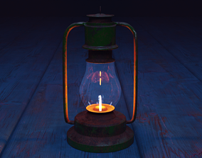 kerosene lamp 3D asset VR / AR ready