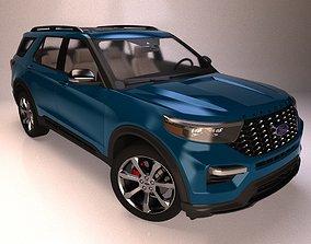 2020 Ford Explorer SUV 3D model