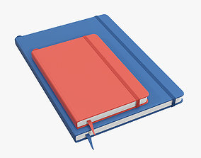 Notebooks hardcover with strap 3D model