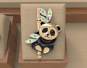 3D printable model Baby panda brooch