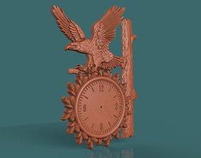 interior Eagle Wall Clock 3d stl model for cnc