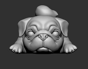 pet 3D print model Lazy Pug