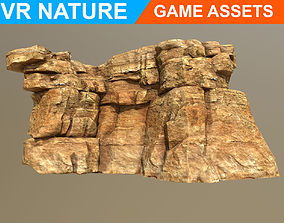 3D asset Low poly Realistic Desert Cliff A5 180609