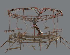 Abandoned Merry-Go Round-Ferris wheel in Chernobyl 3D