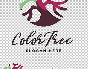 Color Tree Logo symbol 3D printable model