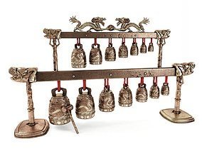 Old China Bells 3D