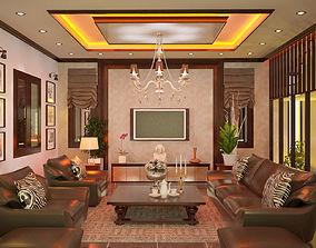 living room 3D print model