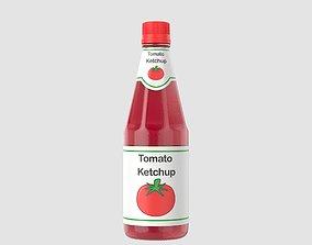Tomato Ketchup Botttle 3D