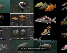 3D Realistic freshwater fish