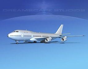 Boeing 747-100 Bare Metal 3D model