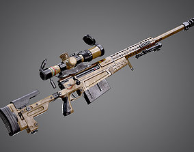 AX-50 Sniper Rifle AAA FPS Game Ready Weapon 3D model