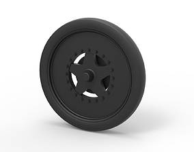 3D print model Diecast Front wheel from dragster