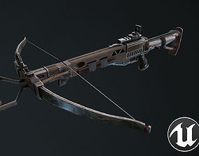 3D asset VR / AR ready PBR Crossbow