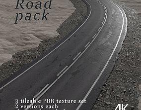 3D model PBR Road texture pack