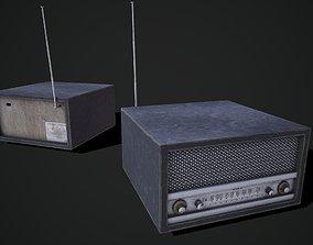 PBR Vintage radio 3D model