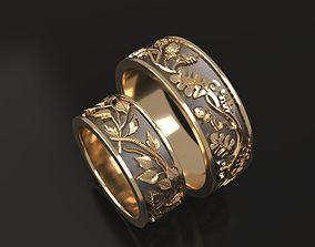 3D print model Birch and oak wedding bands - original