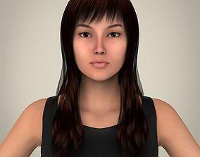 3D model Realistic Pretty Lady