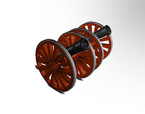 AC DC Cannon miniature 3D printable model