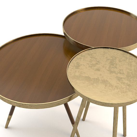 brass tables set