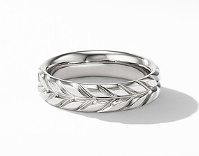 3D print model David Yurman Inspired Chevron Band Ring 2