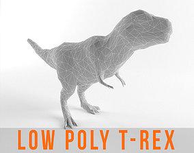 Low Poly T Rex Tyrannosaurus Prehistoric Dinosaur 3D model