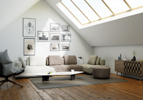 Photorealistic living room made in blender