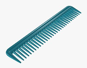 3D model Plastic hair comb type 3