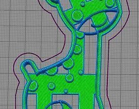 3D printable model Giraffe and Monkey Cookie Cutter Set