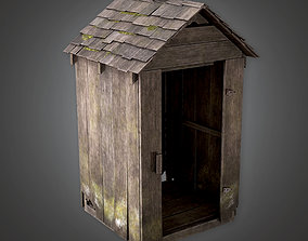 3D asset Wooden Shed - CEM - PBR Game Ready